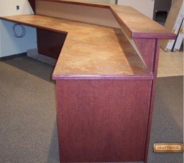 Office Reception Area Custom Desks